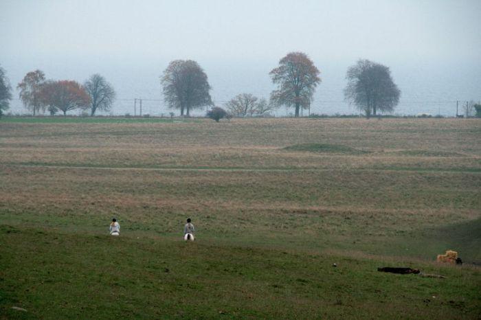 Zoals vroeger de ruiters weggaloppeerden over de velden.