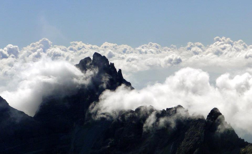 Über den Wolken - Blick vom Habicht, mein erster 3000er | Copyright: Anja Heuer
