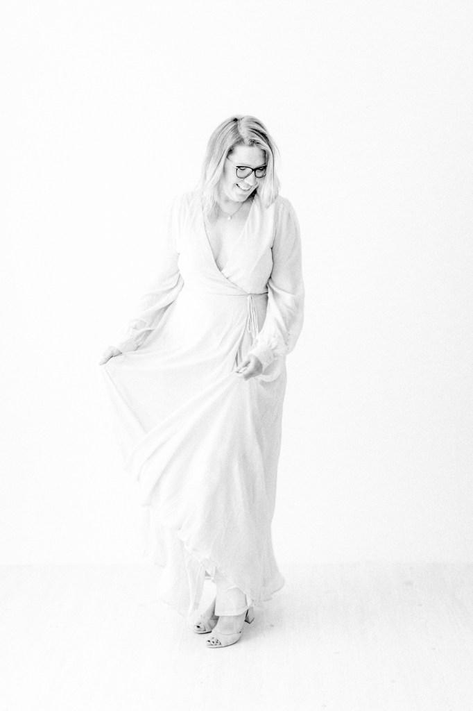 Kleid Studiokleid Fotoshooting