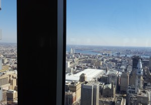 View from 52nd floor Pyramid Club, site of PPRA Meeting of Broadcast Media Tips
