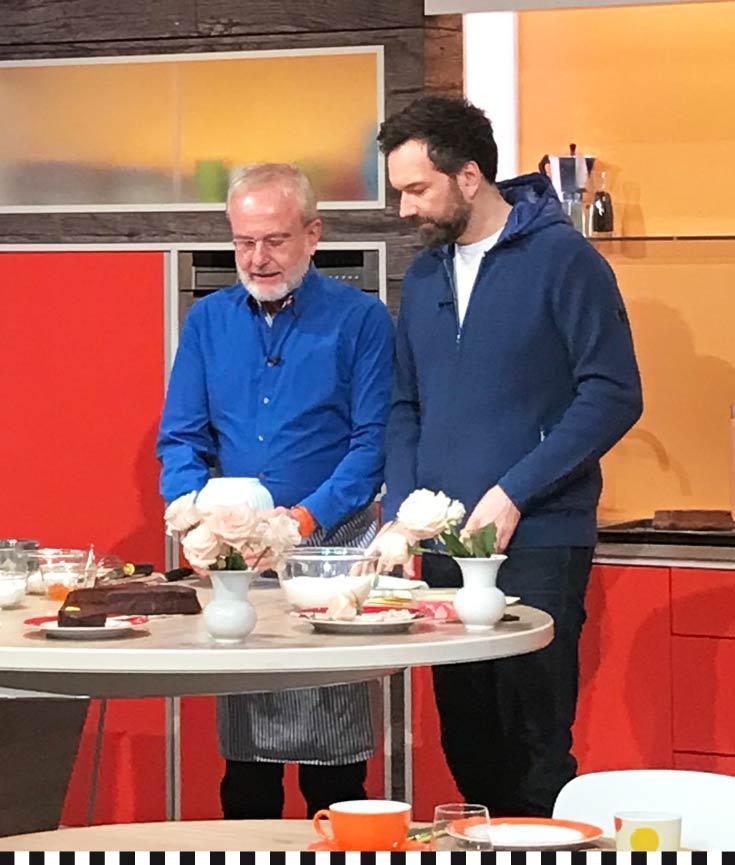 Moderator Ingo Nommsen und Heinz-Richard Heinemann in der ZDF-Sendung Volle Kanne