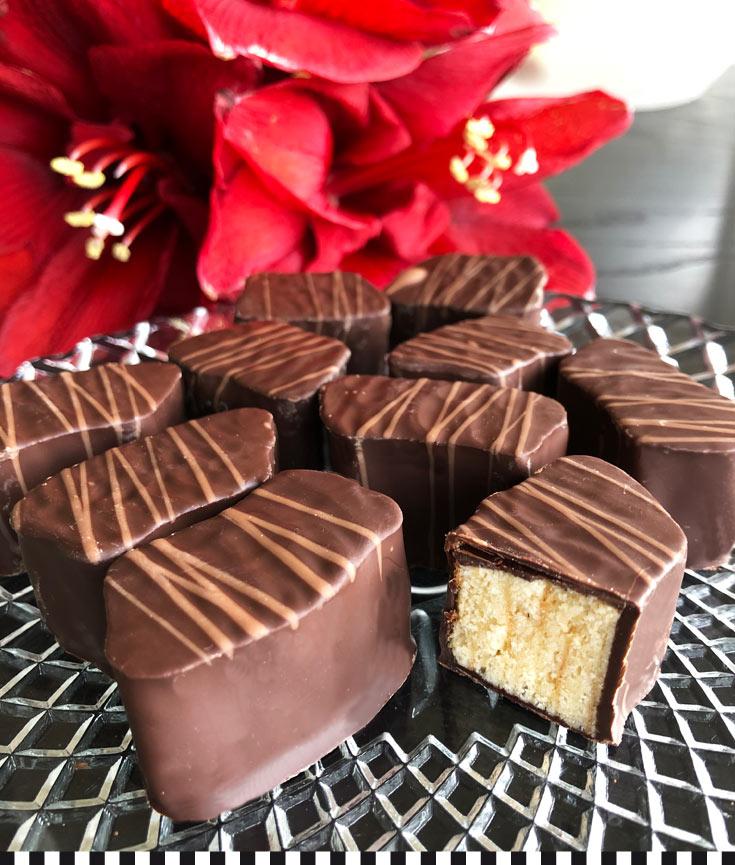 baumkuchenecken mit schokolade