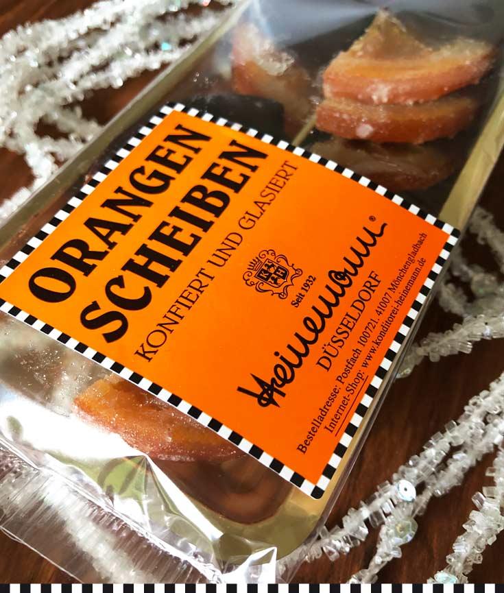 konfierte Orangenscheiben aus der Konditorei Heinemann