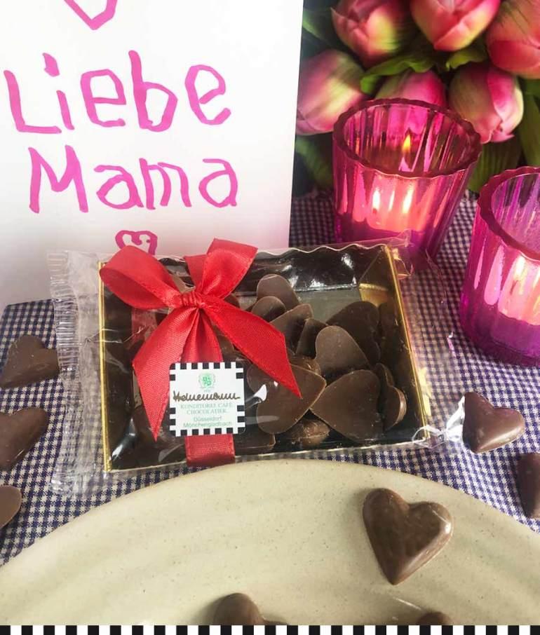 Schokoladenherzen zum Muttertag