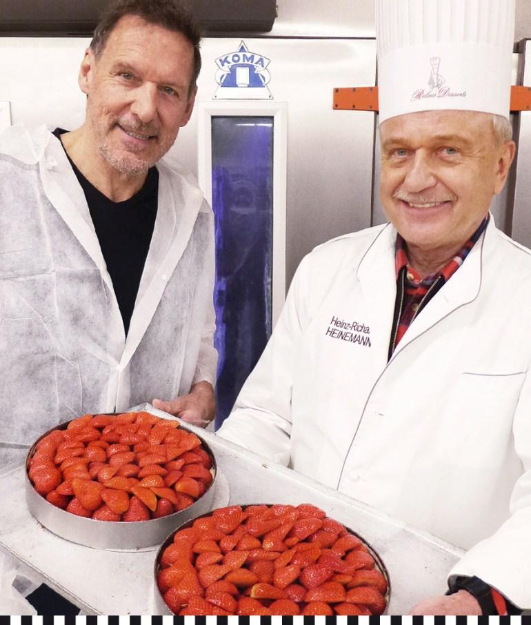 Erdbeertorte, dafür mache Ralf Moeller mal eine Ausnahme vom veganen Leben