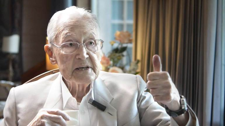 Franz Josef Fieger, 100 Jahre alt, erzählt seine Lebenserinnerungen