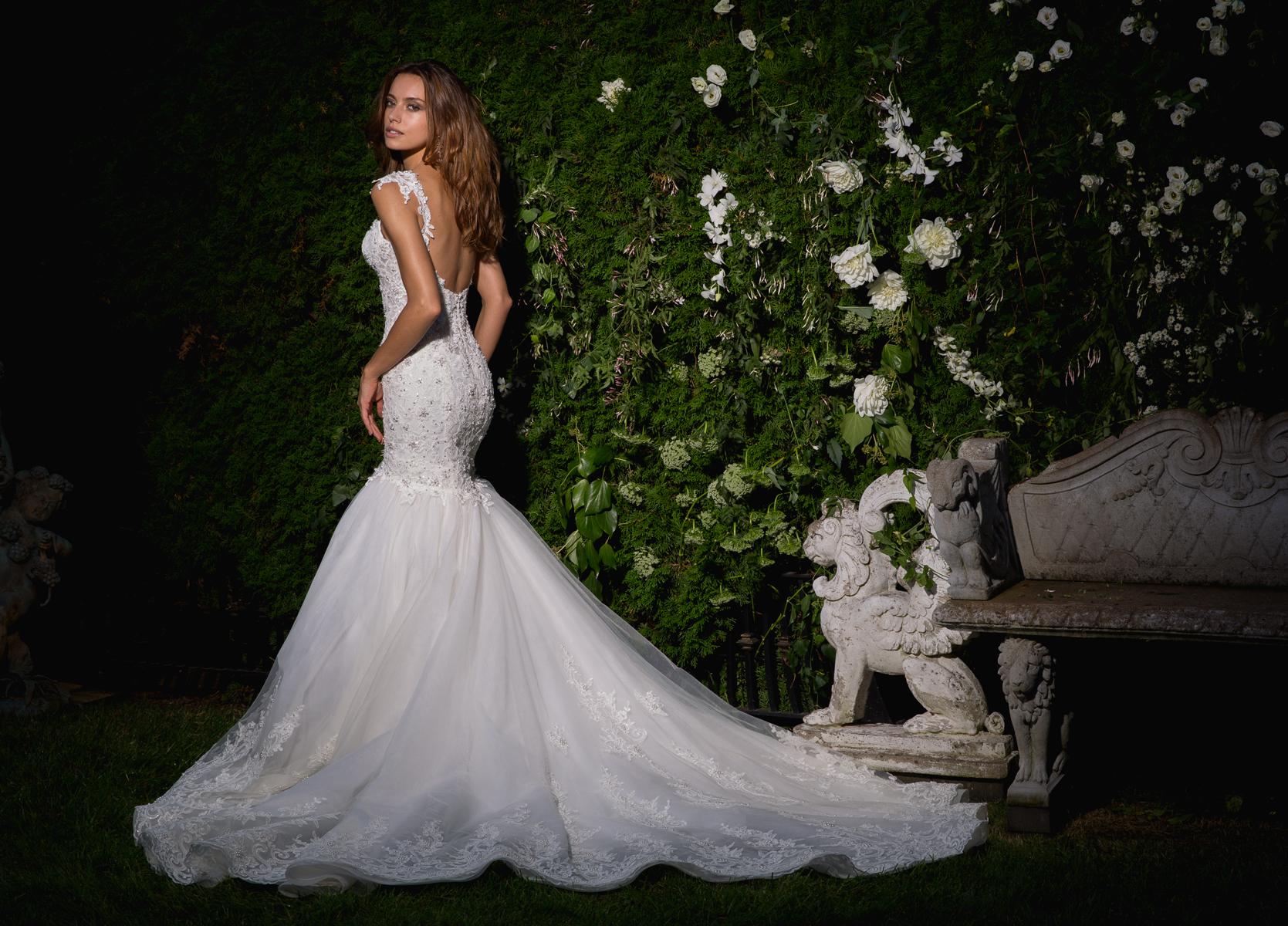 Sweetheart Neckline Cap Sleeve Beaded Bodice Wedding Dress
