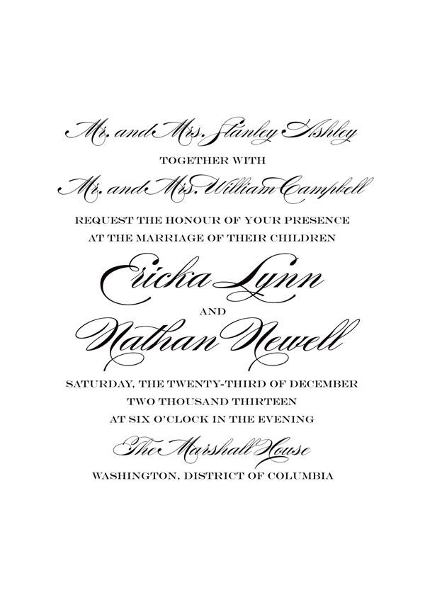 Wedding Invitation Wording Grooms