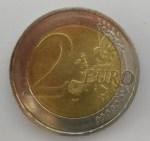 Zwei Euro Münze Vorderseite