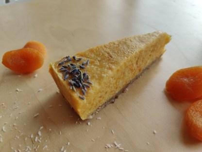 glutenvrij lactosevrij vegan bezorgen klein geluk bakery abrikozen cheesecake