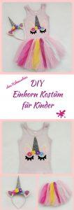 Hier zeige ich euch wie ihr ohne Nähmaschine eine Einhorn Verkleidung für Kinder selber machen könnt. DIY mit Bildern und Anleitung