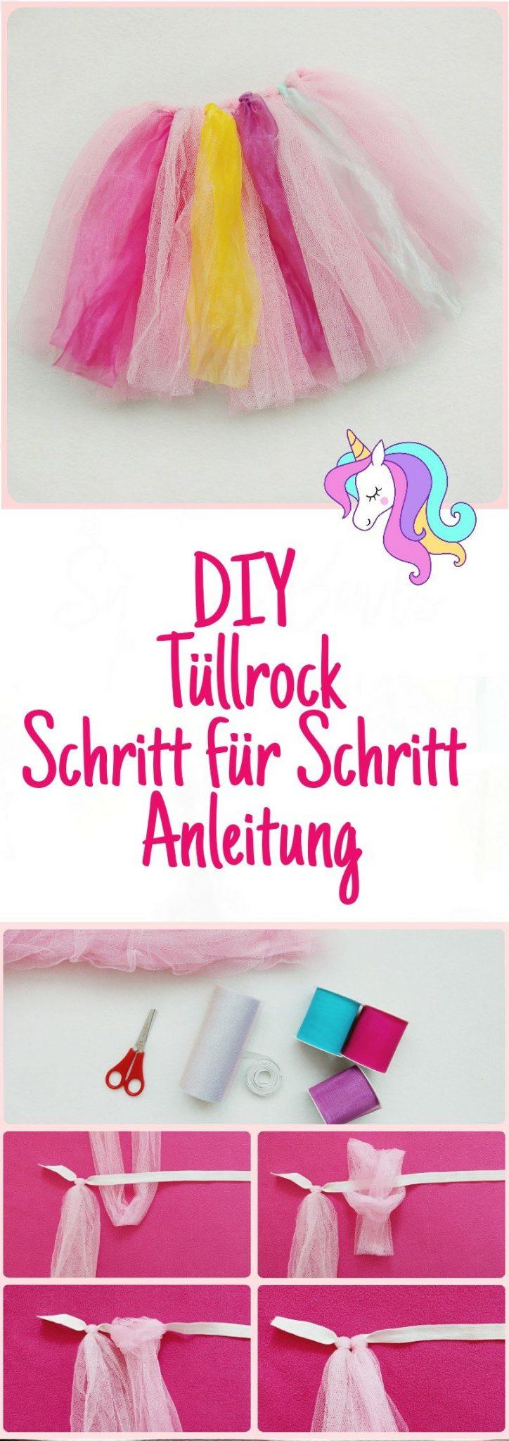 DIY Tüllrock selber machen mit Schritt für Schritt Anleitung, zweiter Teil aus der Serie Einhorn Kostüm für Kinder selber machen