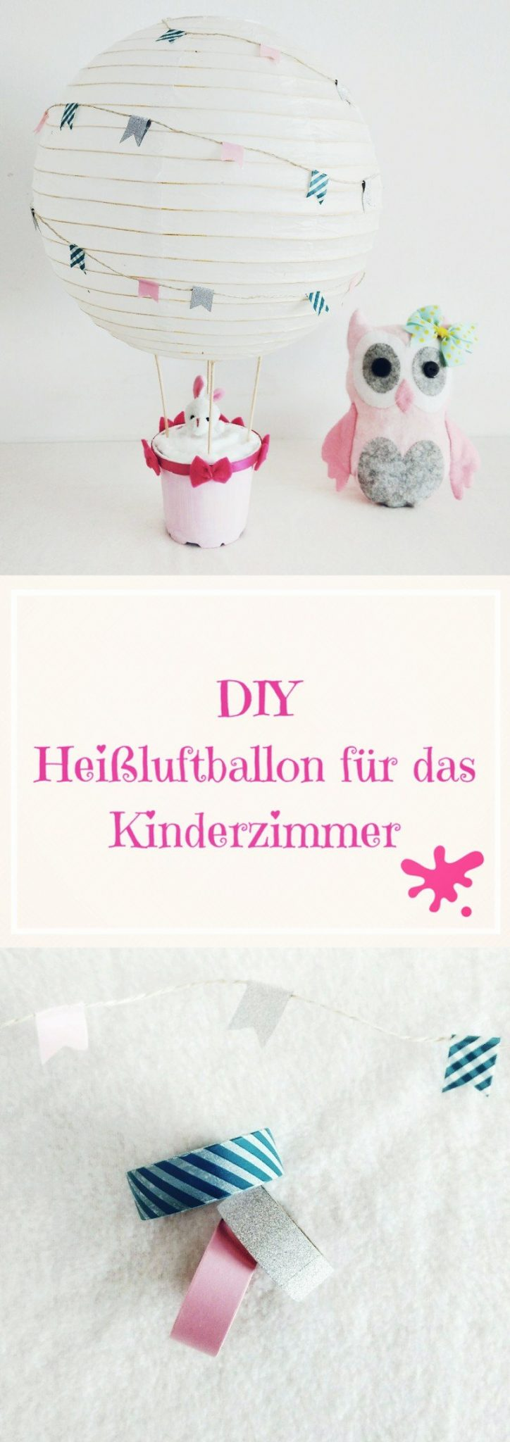 Heißluftballon Kinderzimmer heißluftballon dekoration für das kinderzimmer basteln für kinder