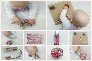 Read more about the article Fünf kreative selbstgemachte Spielzeuge mit denen sich euer Baby beschäftigen kann – Ideen für Aktivitäten zum Fördern von Sensorik und Feinmotorik