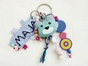 Sensorik-Ring to go – DIY Spielzeug Schlüsselbund für Baby's