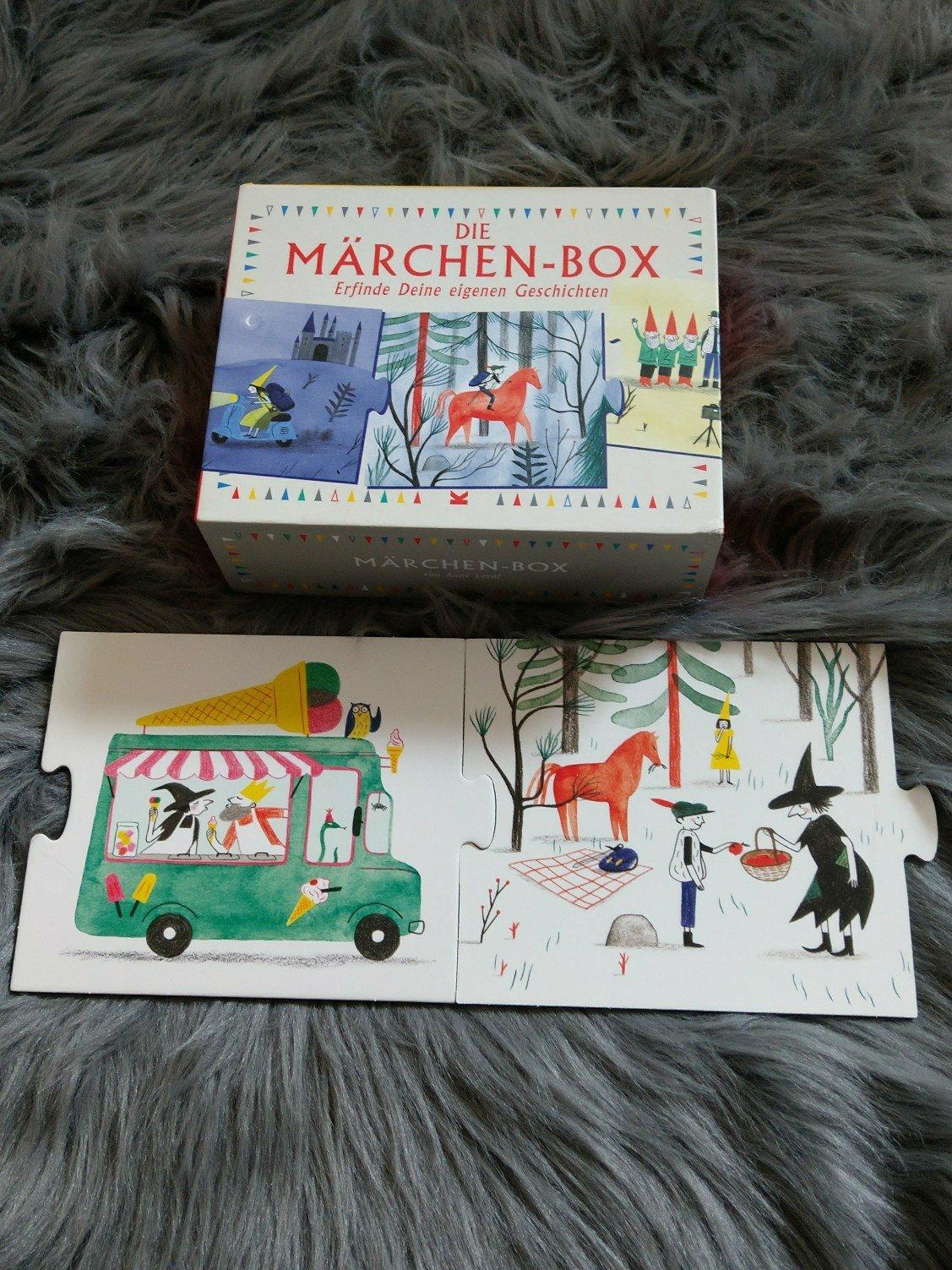 Ein Endlospuzzle für Kinder und Erwachsene. Hier werden Geschichten erzählt, die jedes mal in Handlung und Ende varrieren. Der Fantasie sind keine Grenzen gesetzt.