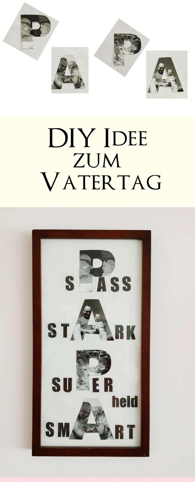 Bilder zum Muttertag und Vatertag basteln - 3 DIY-Ideen mit ...