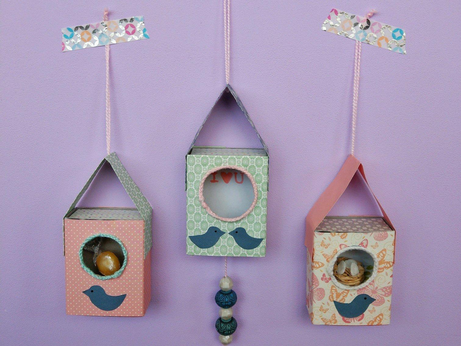 Vogelhaus aus Streichholzschachteln – süße Deko-Idee zum verschenken