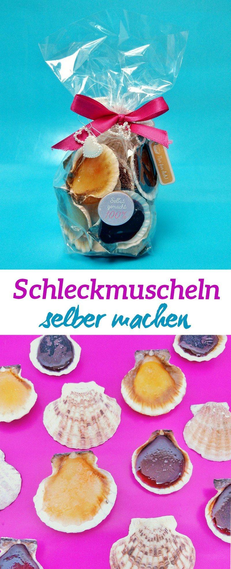 Was gibt es schöneres als selbstgemachte Süßigkeiten? Schleckmuscheln sind schnell selbstgemacht und bestens als Geschenk für zwischendurch geeignet.