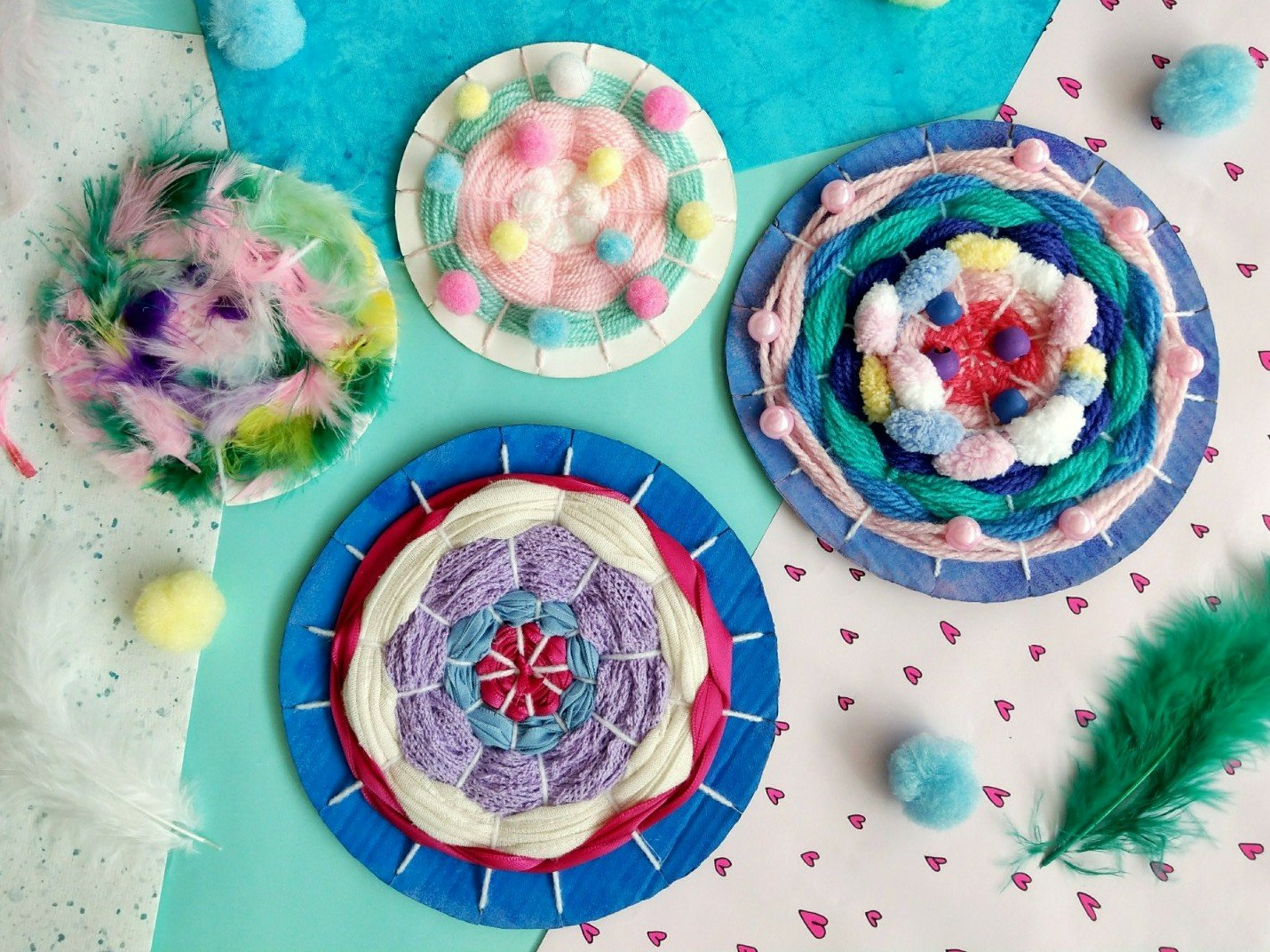 Weben mit Kindern -Einfache DIY Idee mit Anleitung