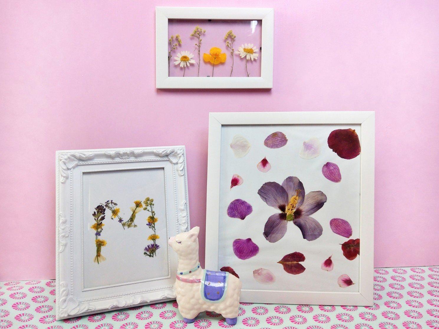 Drei tolle Ideen mit getrockneten Blumen – Deko im Bilderrahmen basteln