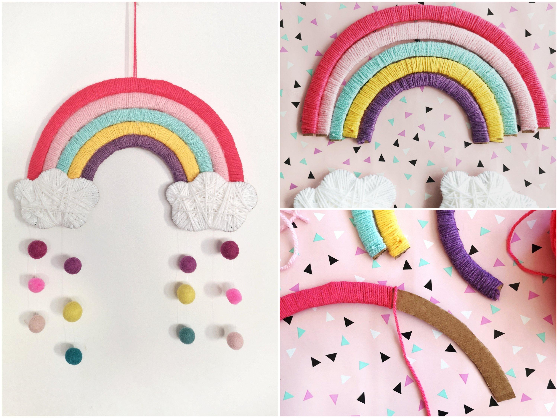 You are currently viewing DIY Regenbogen aus Pappe – Kinderzimmer Deko einfach selber machen
