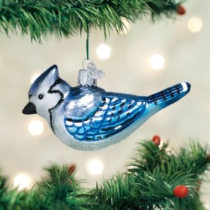 Bright Blue Jay Ornament
