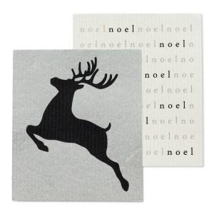 Noel Reindeer Dishcloths