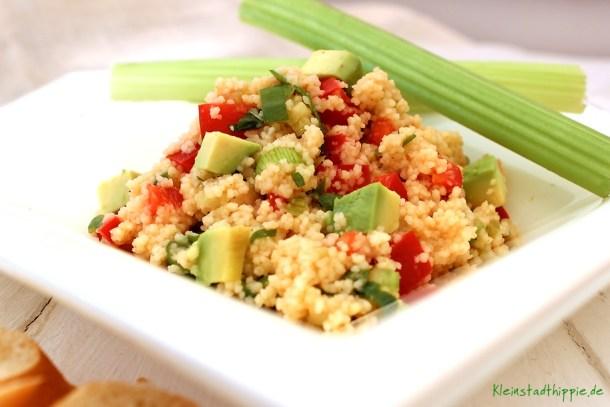 Couscoussalat mit Avocado