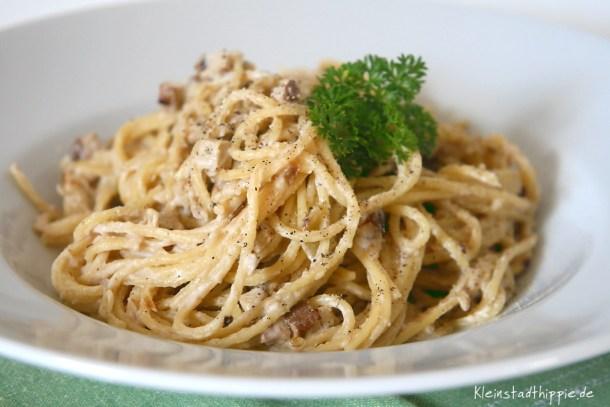Spaghetti alla carbonara vegan