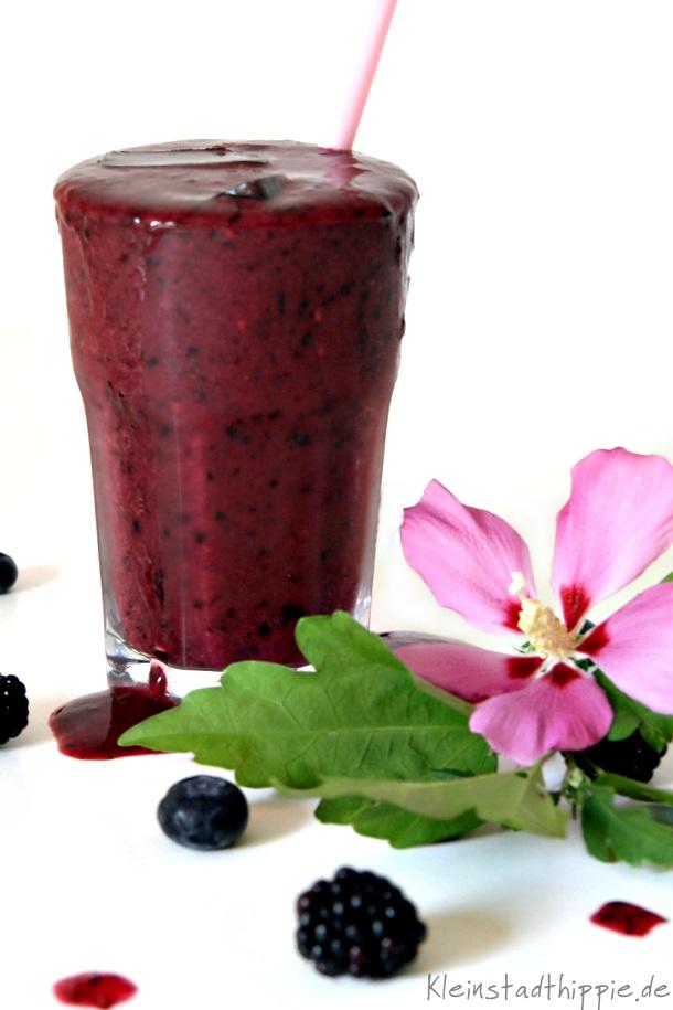 Smoothie cool blue von Kleinstadthippie Vegan Food Blog