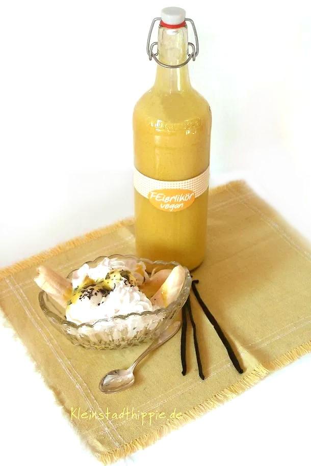 Veganer Bananensplit mit FEierlikör
