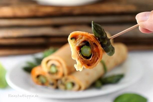 Veganes Fingerfood gefüllt mit Grillgemüse