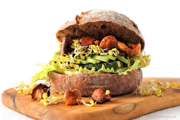 Sandwich mit Pfifferlingen