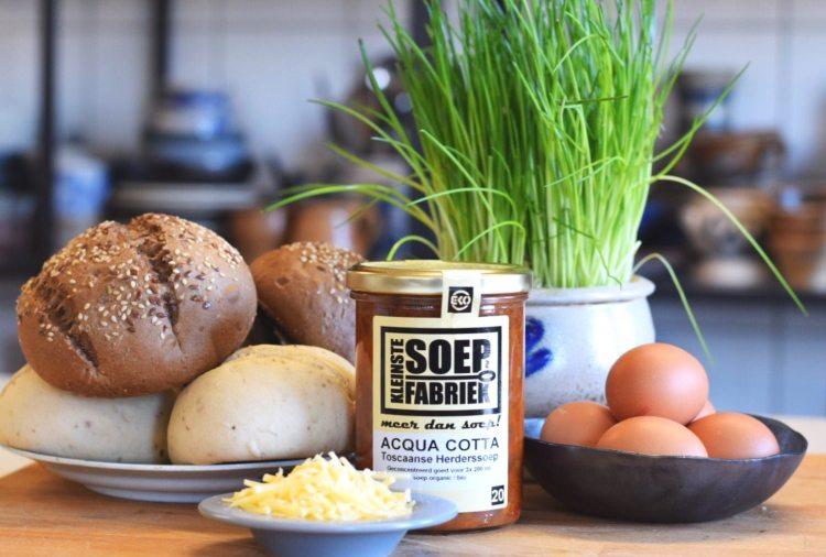 Recept Soep broodjes lunch minestronesoep soep acqua cotta herdersoep biologisch bio kleinste soepfabriek