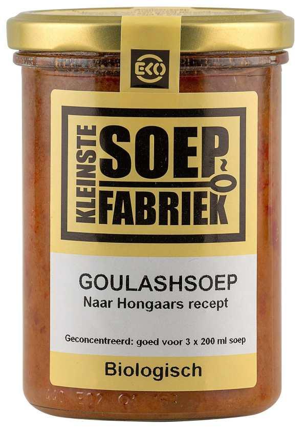 Kleinstesoepfabriek Soepfabriek Biologisch Bio Soep Goulashsoep