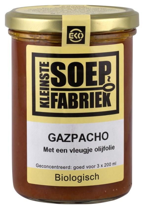 Gazpacho tomatensoep biologisch bio vegan veganistisch soepfabriek