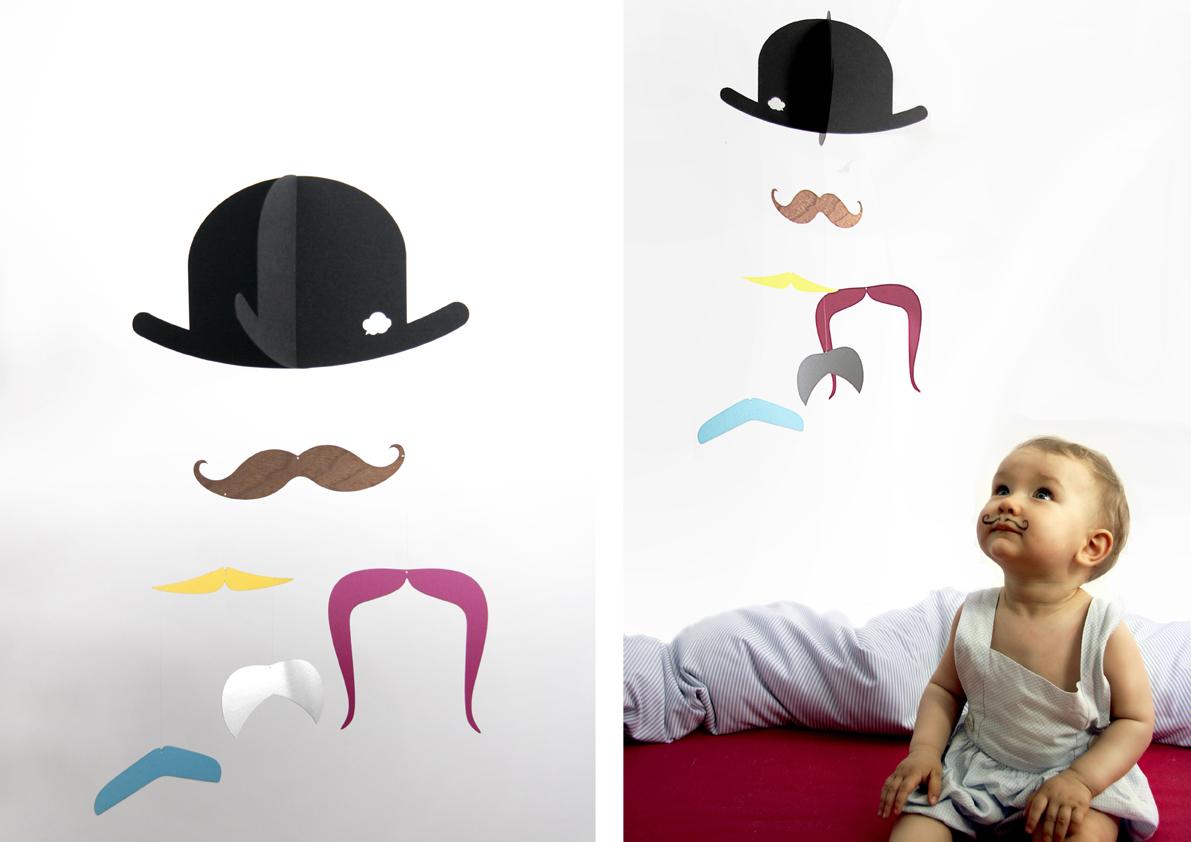 Mr. Moustache : Mobile von jäll & tofta