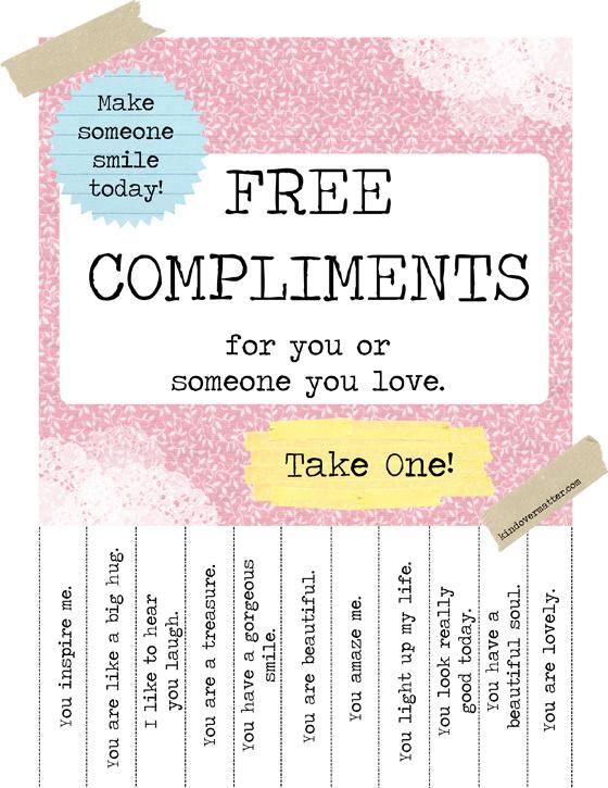 Gratis Komplimente : nimm dir eins!