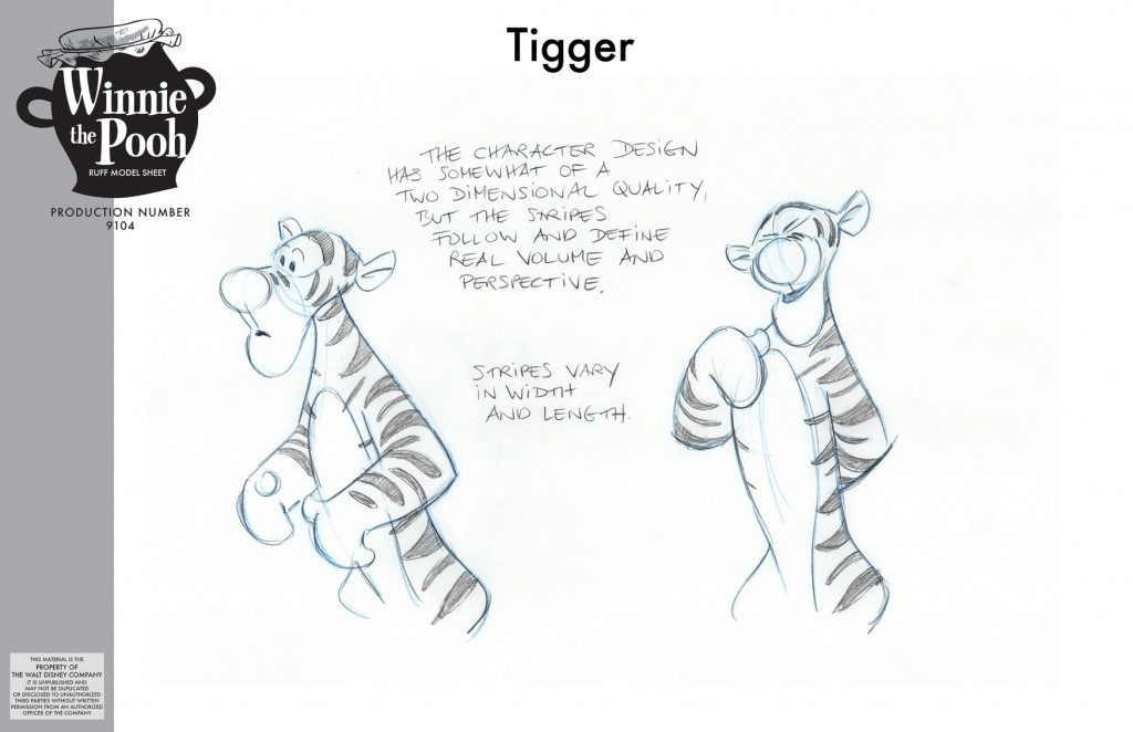 winnie puuh Film- Tigger Skizzen, Andreas Deja Concept art