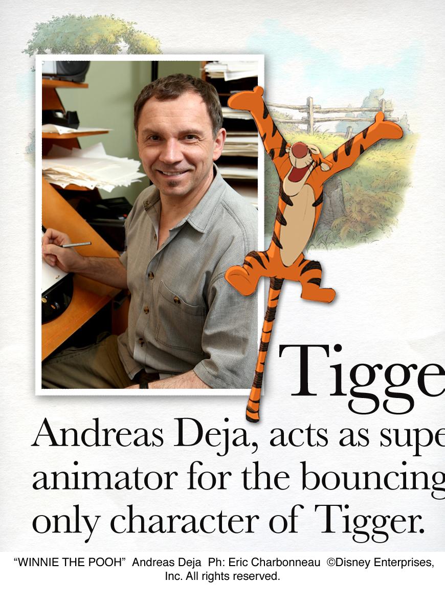 WINNIE THE POOH Tigger Zeichner Andreas Deja