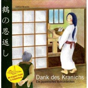 Kinderbuch mit Origami Kranich Faltanleitung