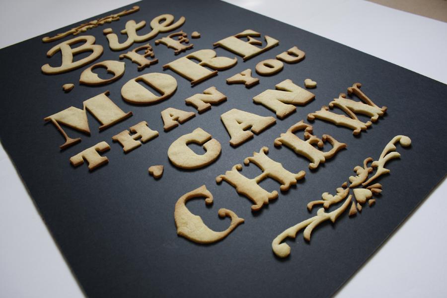 Anna Garforth Keks Typographie