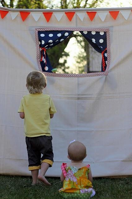 Puppentheater im Garten : Selbstgemacht!