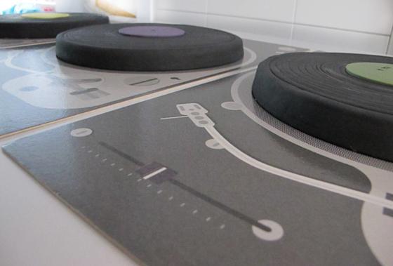DJ, spin that cake for me! : Schallplatten-Kuchen