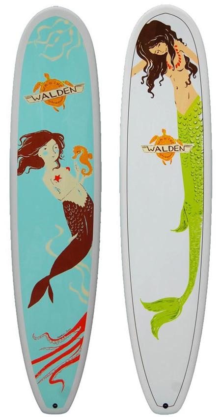 (Deutsch) Surfboard : Meerjungfrauen wie aus dem Bilderbuch