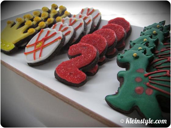 Drachenritter Kuchen, Kekse und Cake Pops auf kleinstyle.com