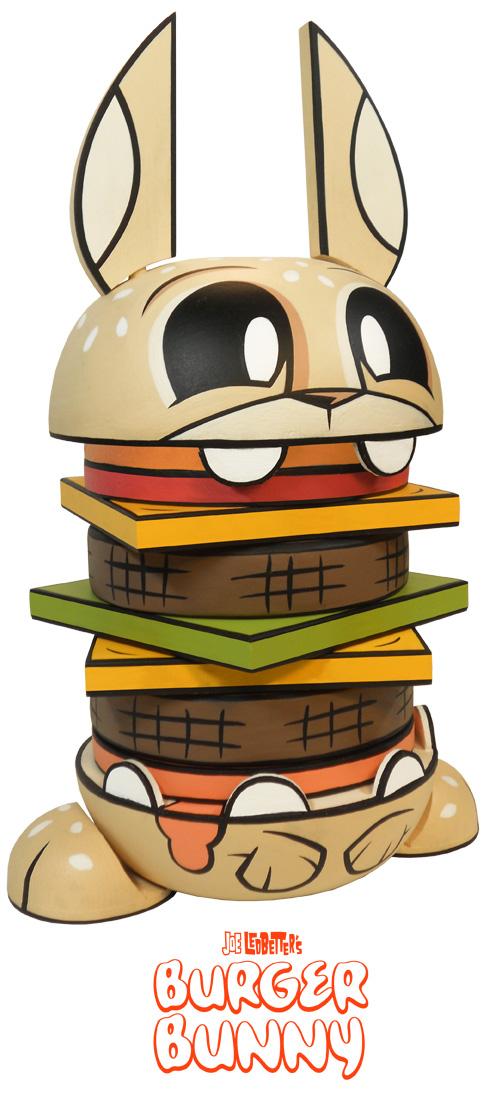 Wood Burger Bunny : Exklusiver Stapelturm