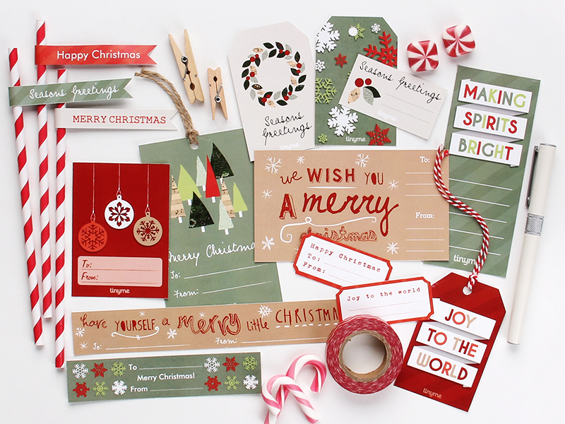 tinyme assorted xmas gift tags gratis download free printable