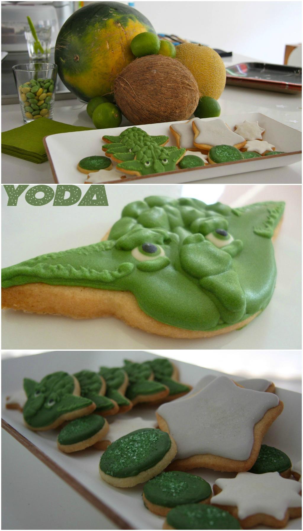 Star Wars Kids themed birthday party Yoda cookies kekse kindergeburtstag